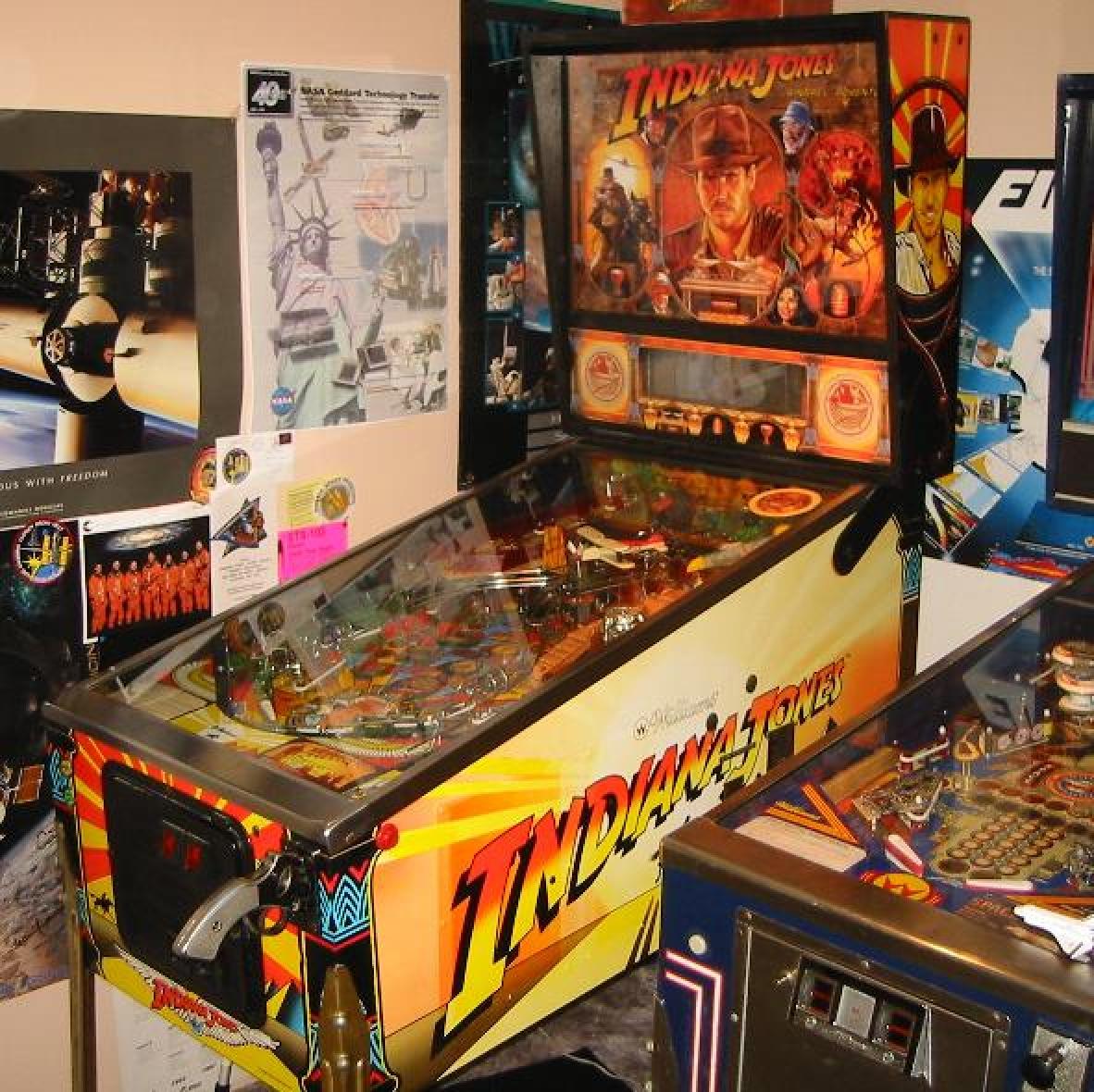 Indiana Jones Pinball Machine Target Decal Set